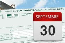 Déclaration d'impôt de solidarité sur la fortune de 2011:  date limite de dépôt 30/09