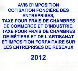 Cotisation fonci re des entreprises fiscal news - Chambre des metiers toulouse auto entrepreneur ...